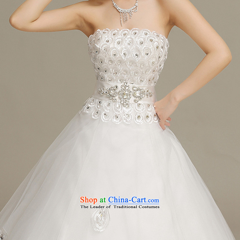 Time Syrian Wedding Dresses New 20175 Chest Pea Feathers Wiping The Diamond Fields To Align A Skirt Fashion And Princess Bride Han Lace Dress