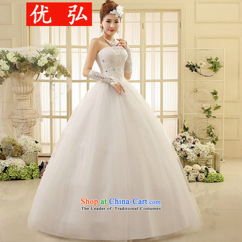 The new Korean anointed chest large marriage Sau San bride lace straps for the floor, wedding XS6003 White�XL