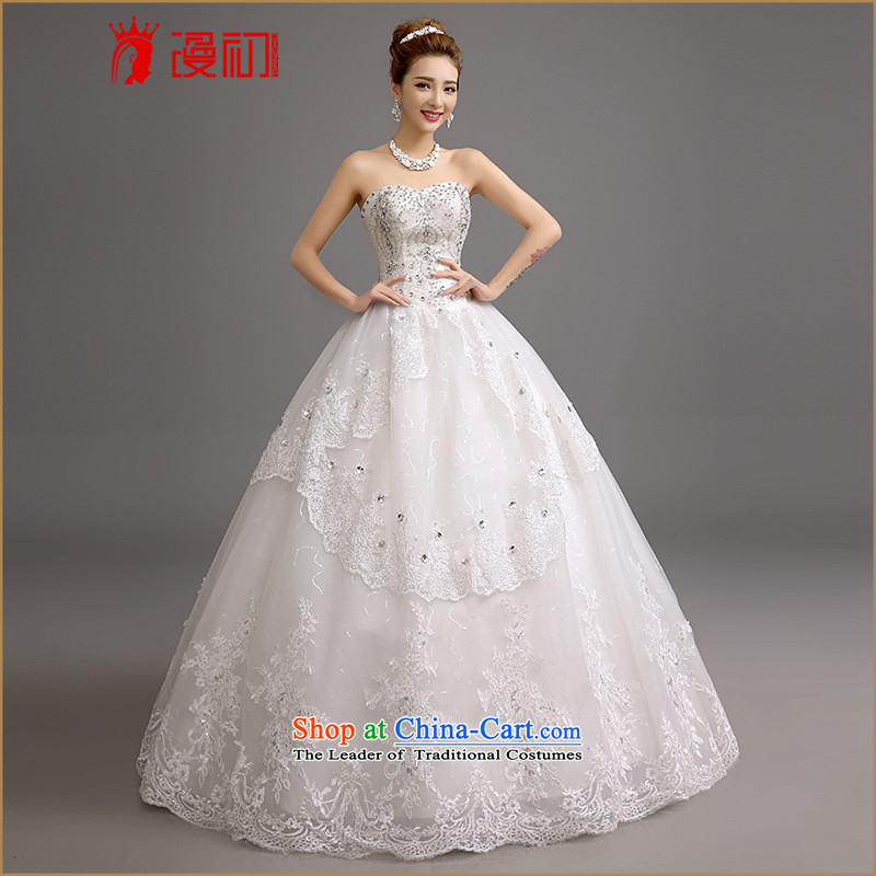 In the early 2015 new man wedding Korean won to his chest and edition wedding romantic Chun-mei on-chip flash drill wedding White� M