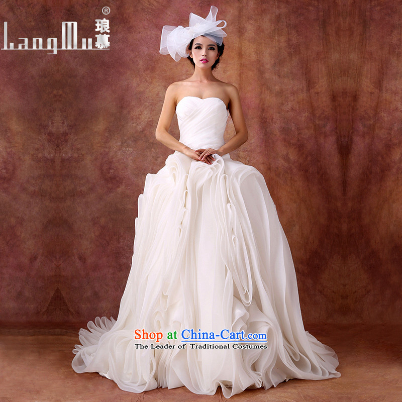 The new 2015 Luang wedding dresses and chest straps trailing wedding vera Wang style bon bon customised weiwei m White size custom