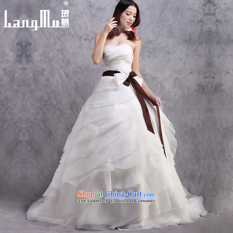 The�new 2015 Luang anointed chest tail wedding dresses Bow Ties are trailing customised m White Advanced Customization