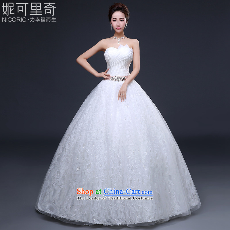 Wedding dresses new 2015 winter sexy anointed chest bride wedding lace Diamond Video thin wedding Sau San to align the white聽S_3-5 day shipping_