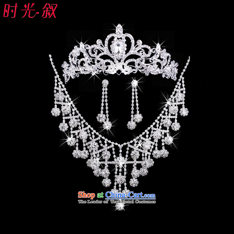 Time Syrian continental crown necklace earrings three kit jewelry wedding accessories marriages will head-dress ornaments decorating marriage jewelry Kits