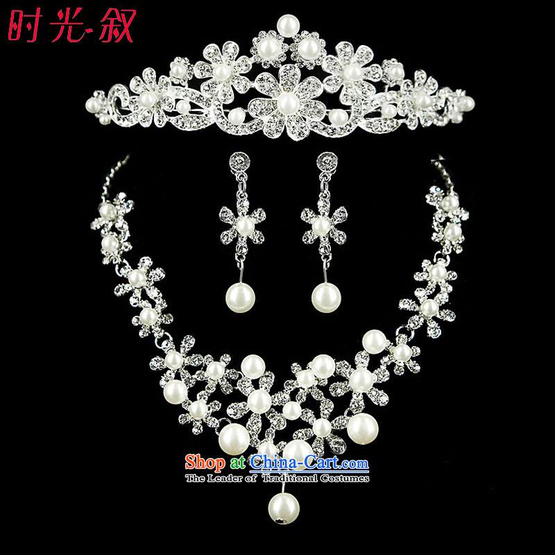 The Syrian brides head-dress moments of international crown necklace earrings three Kit Jewelry marry hair decorations wedding accessories accessories Kits