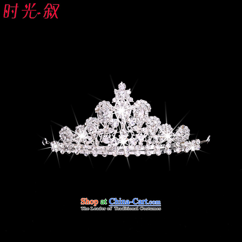 The Syrian brides head-dress hour Crowne necklace earrings three Kit Jewelry marry hair decorations wedding accessories Korean Jewelry Crown
