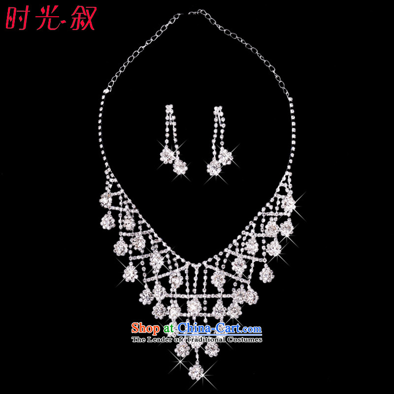 The Syrian brides time accessories wedding headdress of international crown necklace earrings kit 3 banquet Jewelry marry hair accessories wedding jewelry necklace Earrings