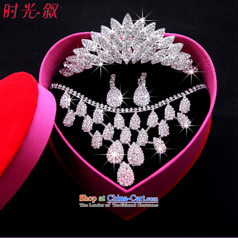 The Syrian brides head-dress moments of international crown necklace earrings three kit Maximum Leaf Jewelry marry hair decorations wedding accessories accessories Gift Box 3-piece set