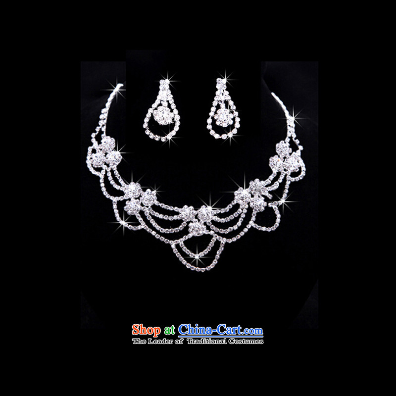 The Syrian brides head-dress moments of international butterfly crown necklace earrings three kit Korean Jewelry marry hair decorations wedding accessories accessories Gift Box 3-piece set, Syria has been pressed time shopping on the Internet
