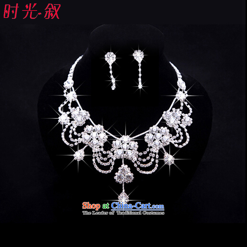 Time Syrian brides of jewelry and ornaments peacock crown necklace earrings three Kit Jewelry marry hair decorations wedding accessories accessories necklaces Earrings