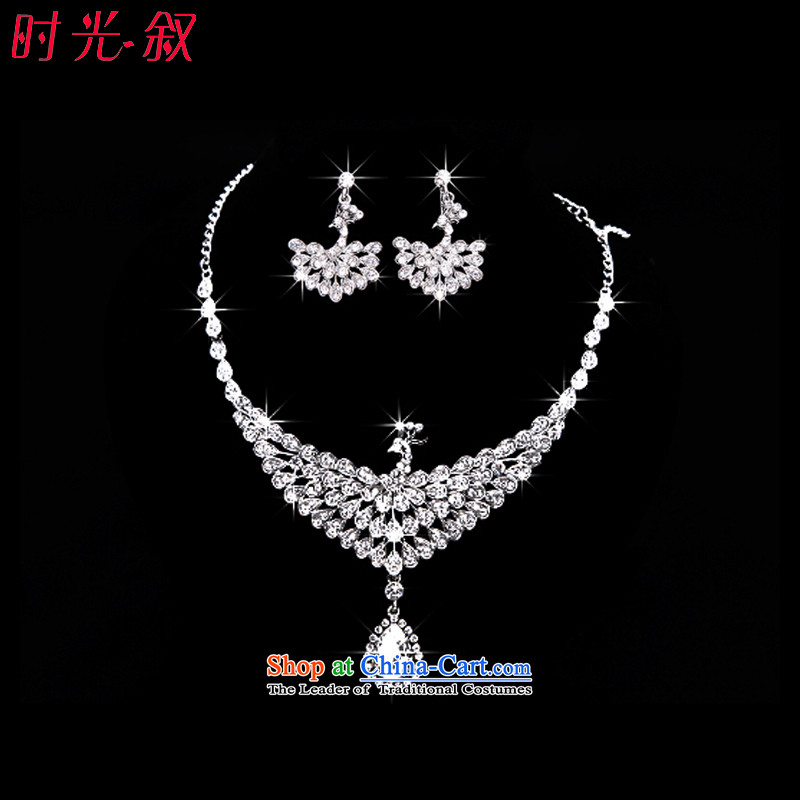 Time the聽  new 2015 Syrian brides head ornaments of peacock ornaments crown necklace earrings three Kit Jewelry marry hair decorations wedding accessories accessories necklaces earrings photographed the note color