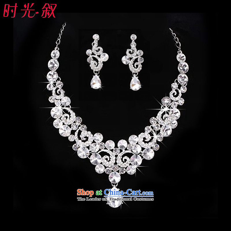 The Syrian brides head-dress moments of international crown necklace earrings kit three big drilling Jewelry marry hair decorations wedding accessories accessories necklaces Earrings