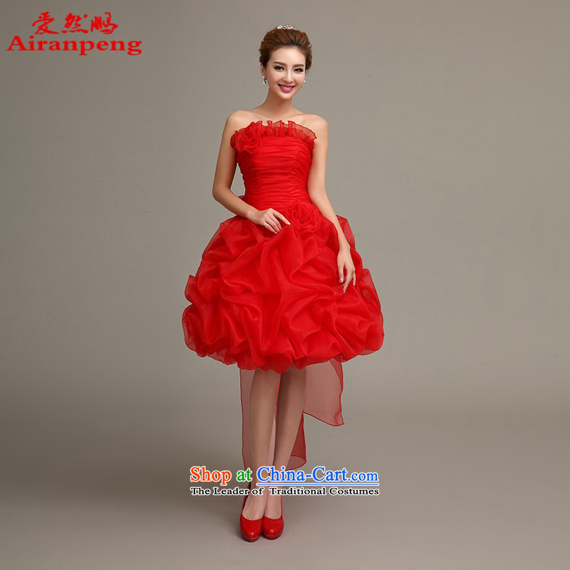 Love So Peng wedding dresses 2015 new marriages red dress skirt bows service, evening long-sleeved gown red winter?need to do not XXL returning