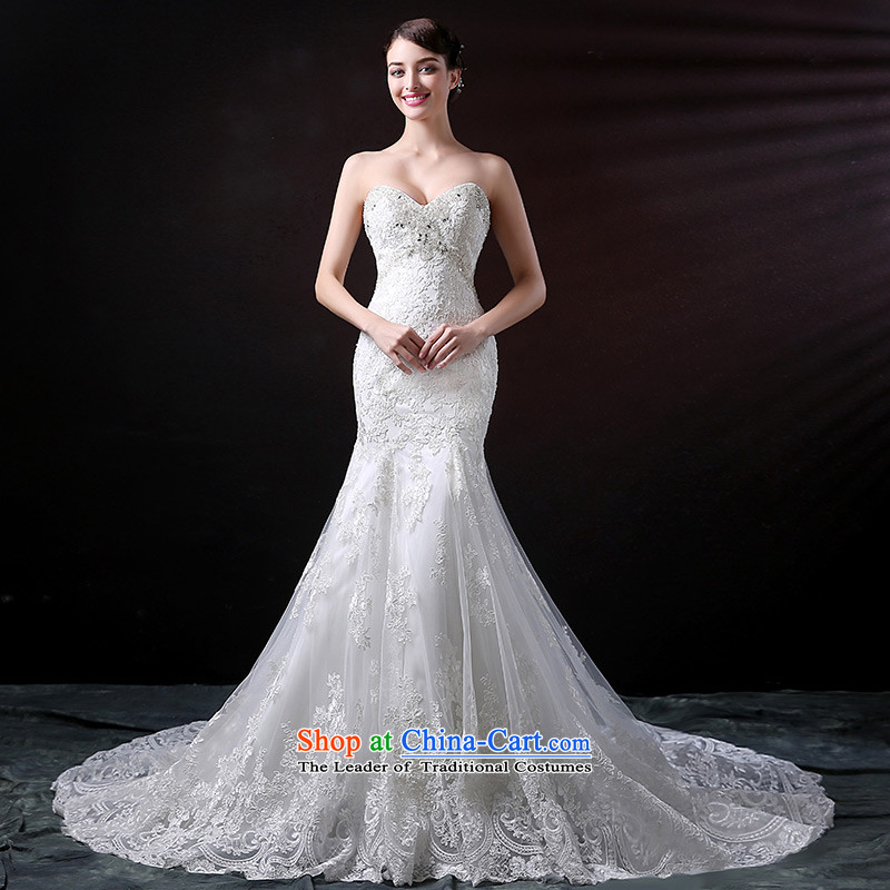 Custom dressilyme wedding by 2015 new anointed chest luxury crowsfoot wedding dress lace diamond sexy flash bridal dresses skirt ivory - no spot 25 day shipping�S