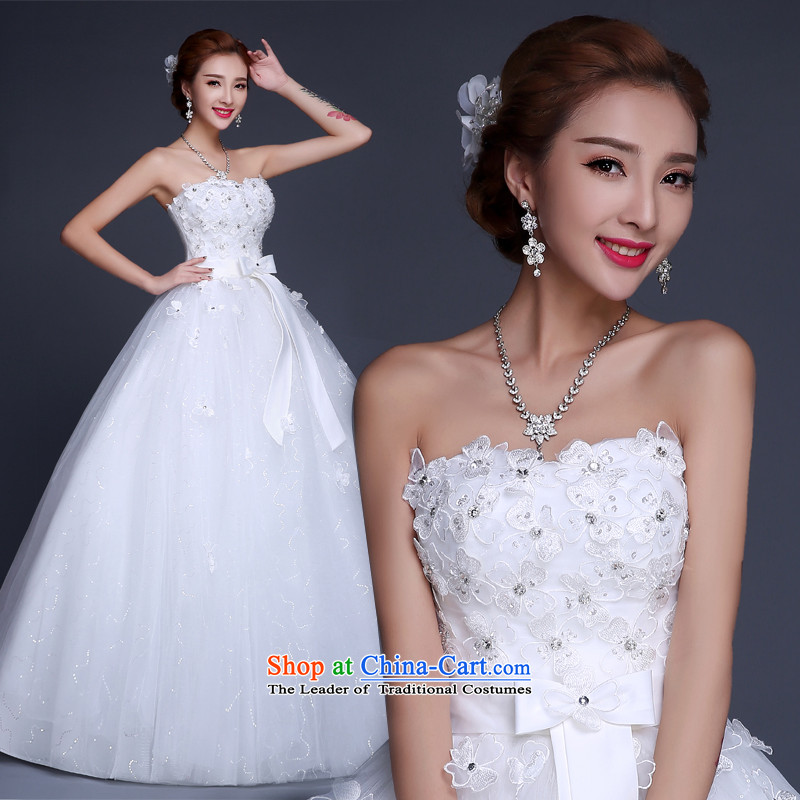 Lily Dance wedding dresses new 2015 Winter Korean fashion and chest straps lace bride pregnant women to align the wedding wedding white tailored