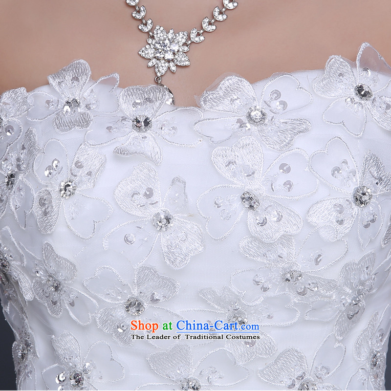 Lily Dance wedding dresses new 2015 Winter Korean fashion and chest straps lace bride pregnant women to align the wedding wedding white tailored, Lily Dance (ball lily shopping on the Internet has been pressed.)