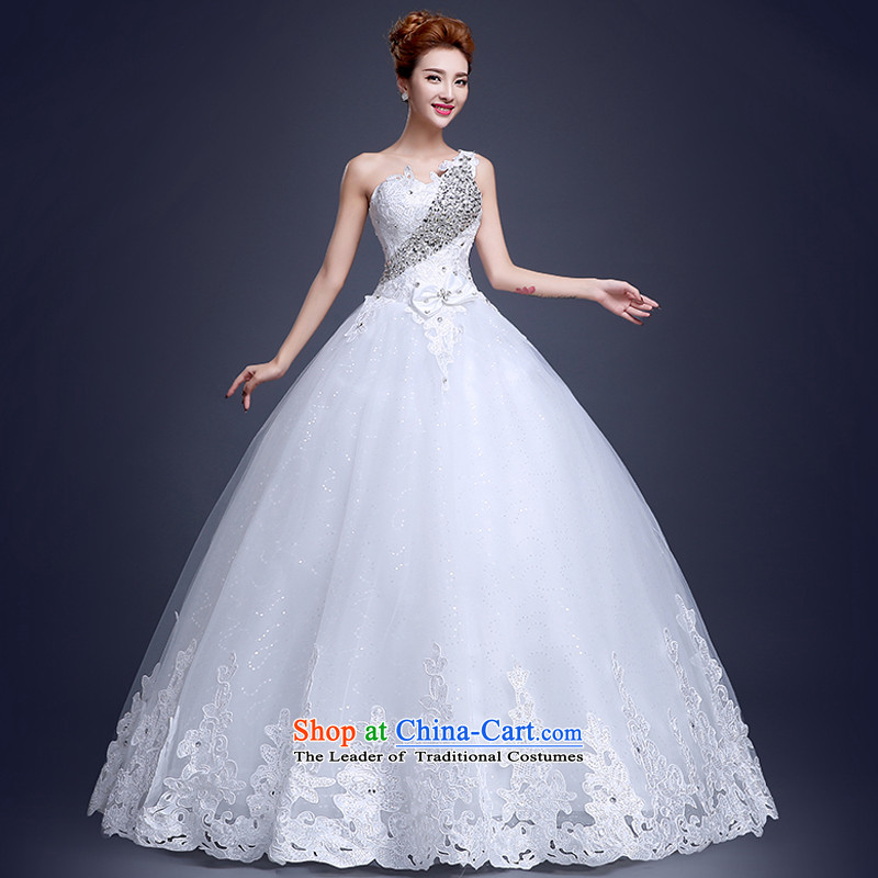 The Republika Srpska divas shoulder autumn 2015 new alignment to wedding sexy shoulder stylish chest to Princess Mary Magdalene bon bon skirt wedding marriages聽M_3-5 white wedding day shipping_