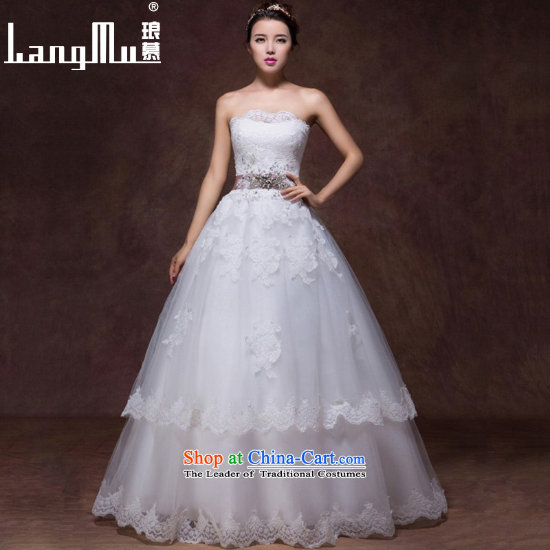 The new 2015 Luang Wedding Korean anointed Sau San chest lace bride to align the stylish Sau San video wedding custom m thin white Advanced Customization