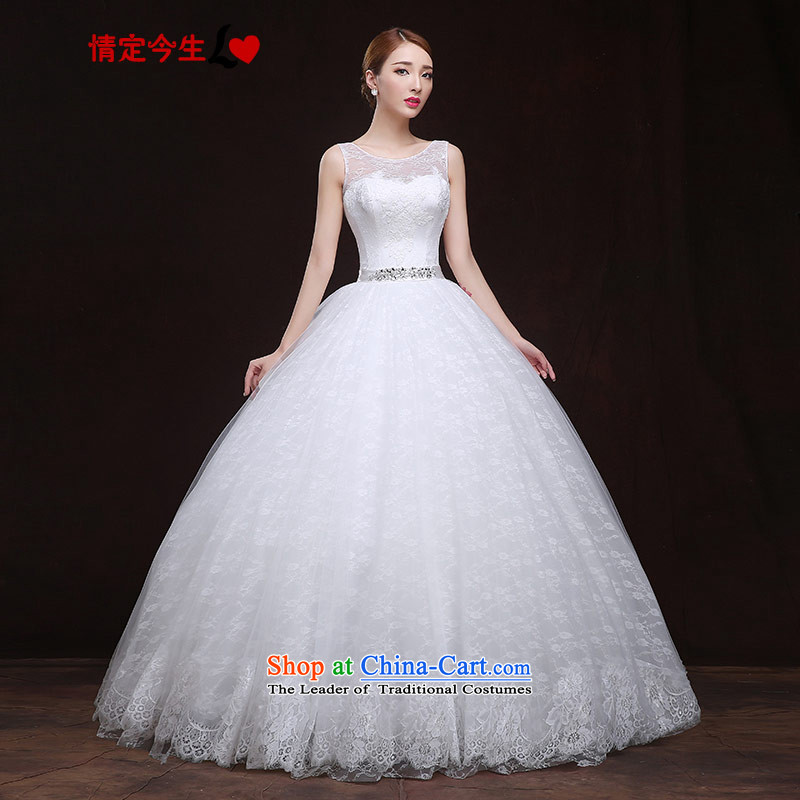 Maximum Number of Temporal wedding dresses 2015 new word shoulder lace diamond strap video thin Korean wedding dress female white?XS