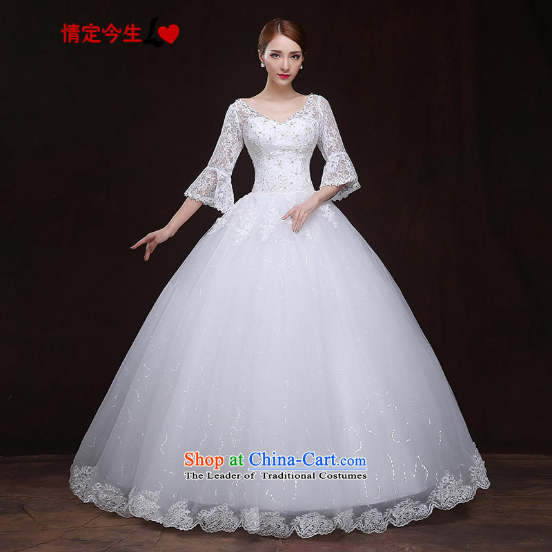 Maximum Number of Temporal wedding dresses 2015 new European-style wedding lace 7 cuff horn cuff bon bon skirt elegant wedding video thin white strap make the concept of message size is designed