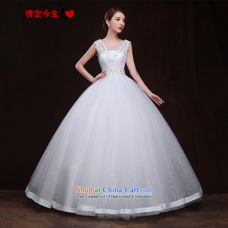Maximum number of this life wedding slotted shoulder the new 2015 sexy back gauze to align the diamond princess bon bon skirt wedding dress female White�XXL