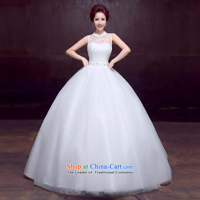 The dumping of the wedding dress wedding dresses new spring 2015 package your shoulders to bride wedding Sau San video thin sweet strap wedding service kits white S