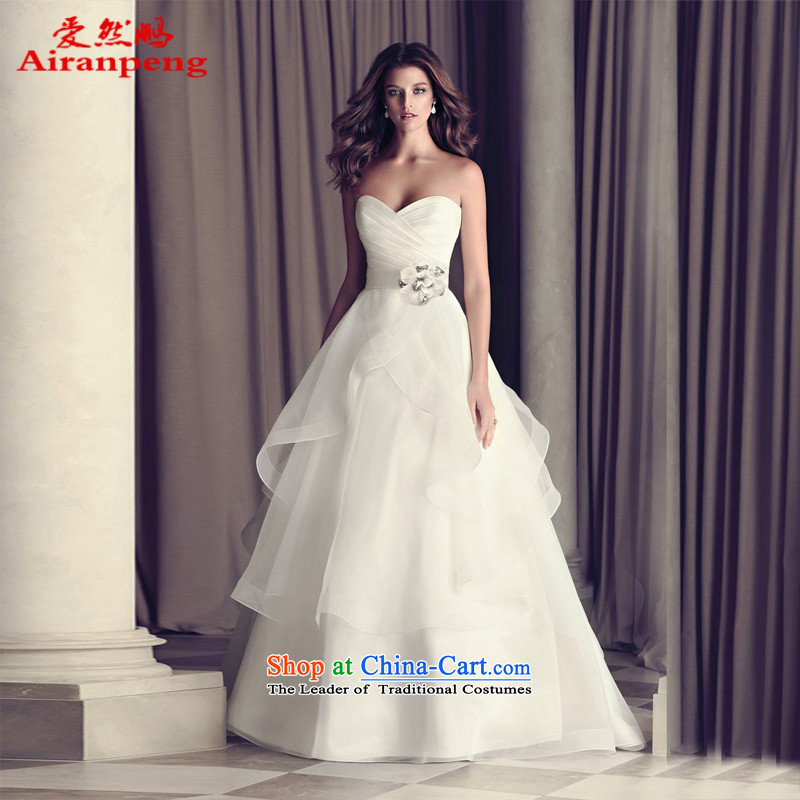 The spring of 2015, Peng love so new wedding dresses western style high-end trailing retro anointed chest to wedding package returning 001 XL