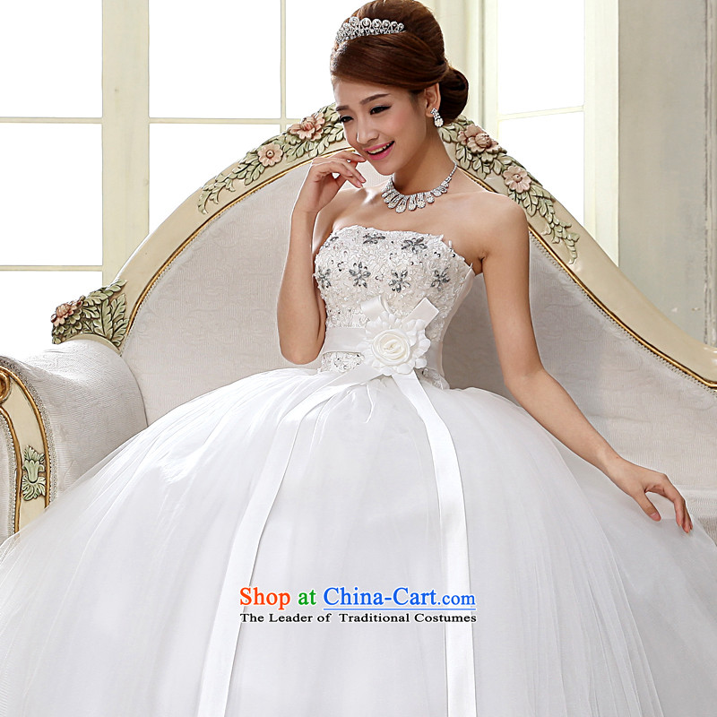 The privilege of serving-leung�2015 new Marriage and chest of Princess sweet fashionable retro to align the wedding dresses White�2XL
