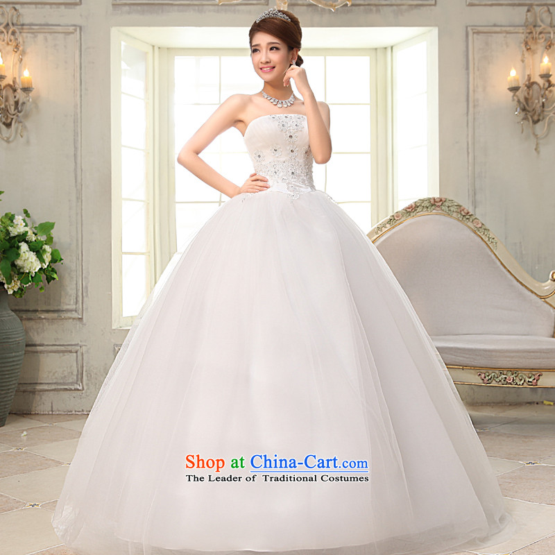 The privilege of serving-leung聽2015 new Marriage and chest wedding dress sweet to align the princess stylish wedding dress white聽L