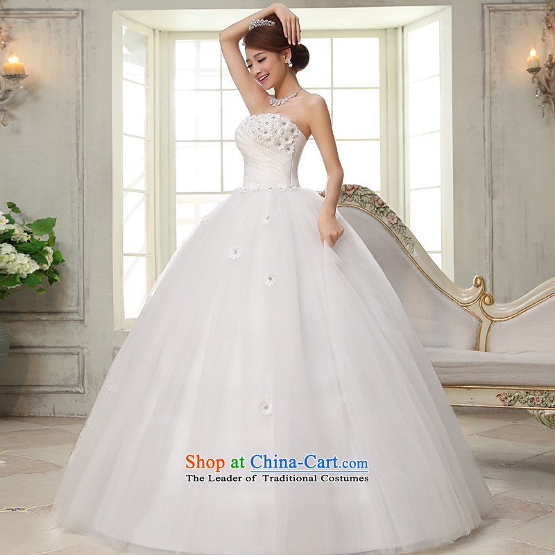 The privilege of serving-leung?2015 new bride wedding dress wiping the chest to align the princess stylish Sweet wedding dress white?S