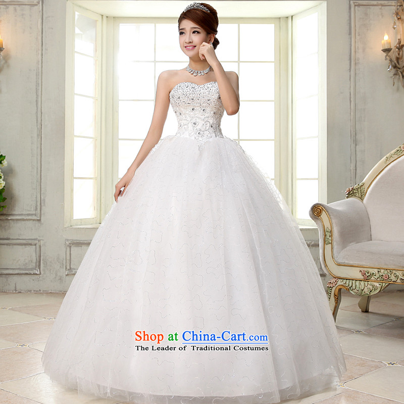 The privilege of serving-leung 2015 new marriages wedding Long Chest Princess Mary Magdalene bon bon skirt to align the strap wedding white�L