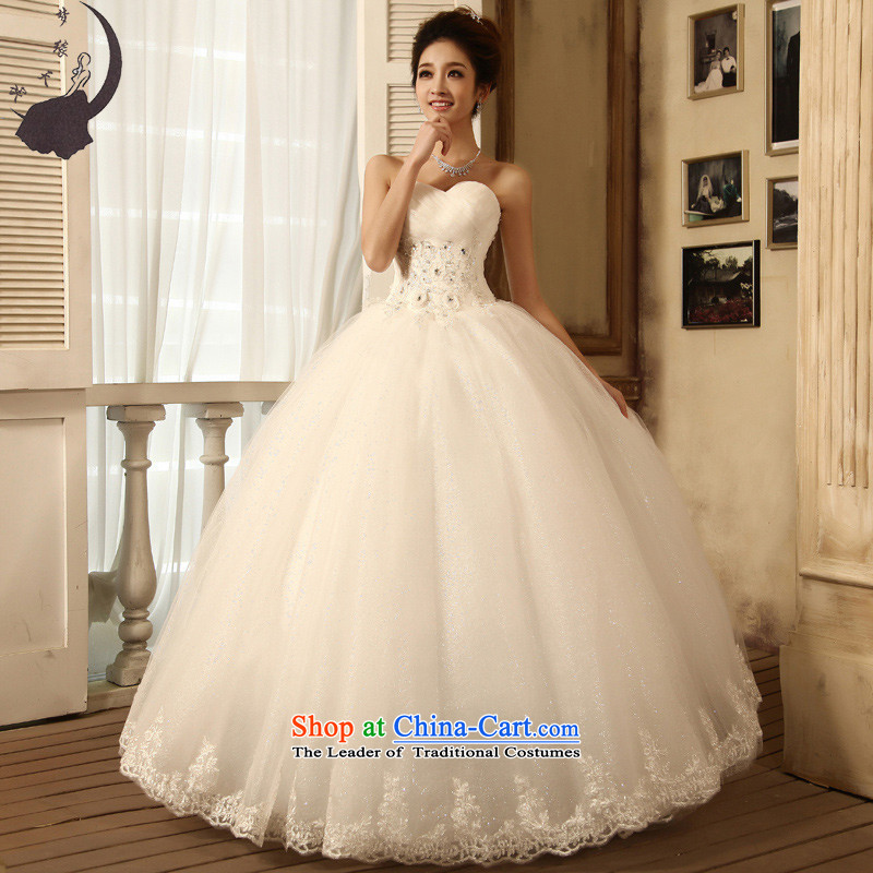 The leading edge of the days of the wedding dresses new 2015 Winter Han anointed chest to wedding dress 6273 White�M