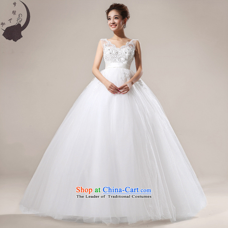 The leading edge of the Korean version of day field shoulder wedding dresses 2015 new high-lumbar pregnant women to align the tail wedding dress 62 land XXXL Alignment