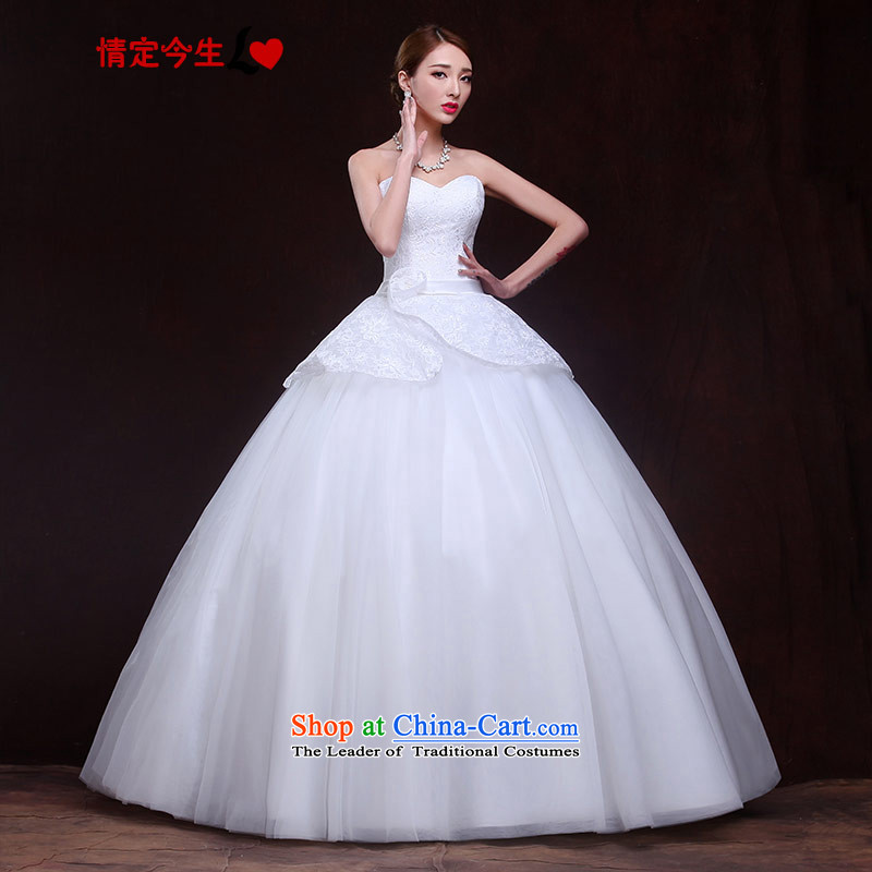 Maximum Number of Temporal wedding anointed chest, 2015 new products lace Korean lady princess bon bon skirt straps graphics make thin Foutune of type dress white�L