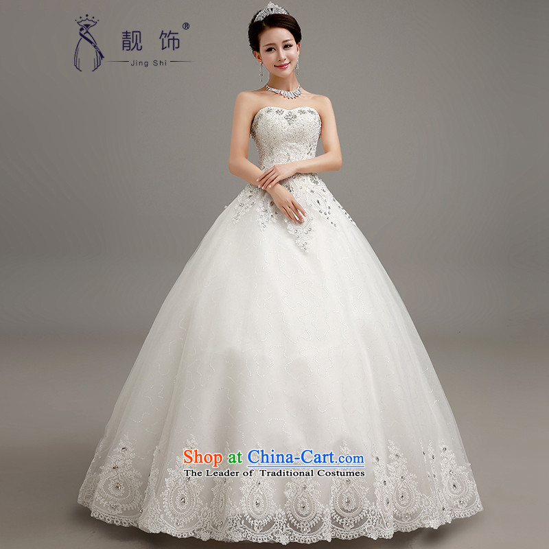 The new 2015 International Friendship wedding luxury water drilling and chest wedding marriages princess bon bon skirt to align the white) to contact Customer Service