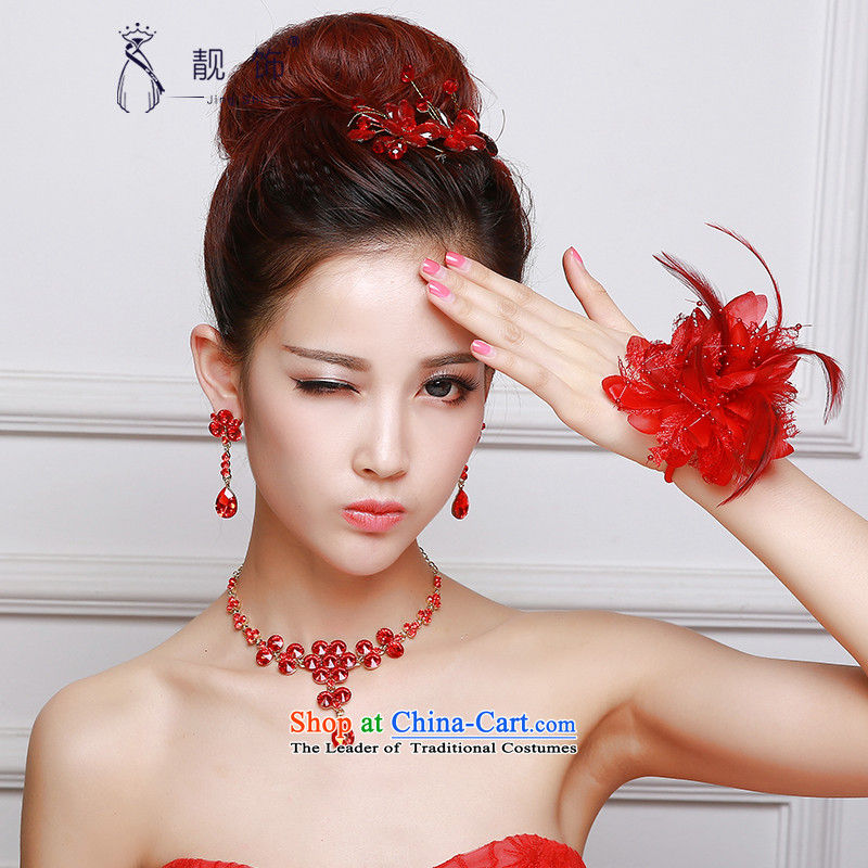 The new 2015 International Friendship marriages accessories accessories white Floral Hairpiece wrist spent red