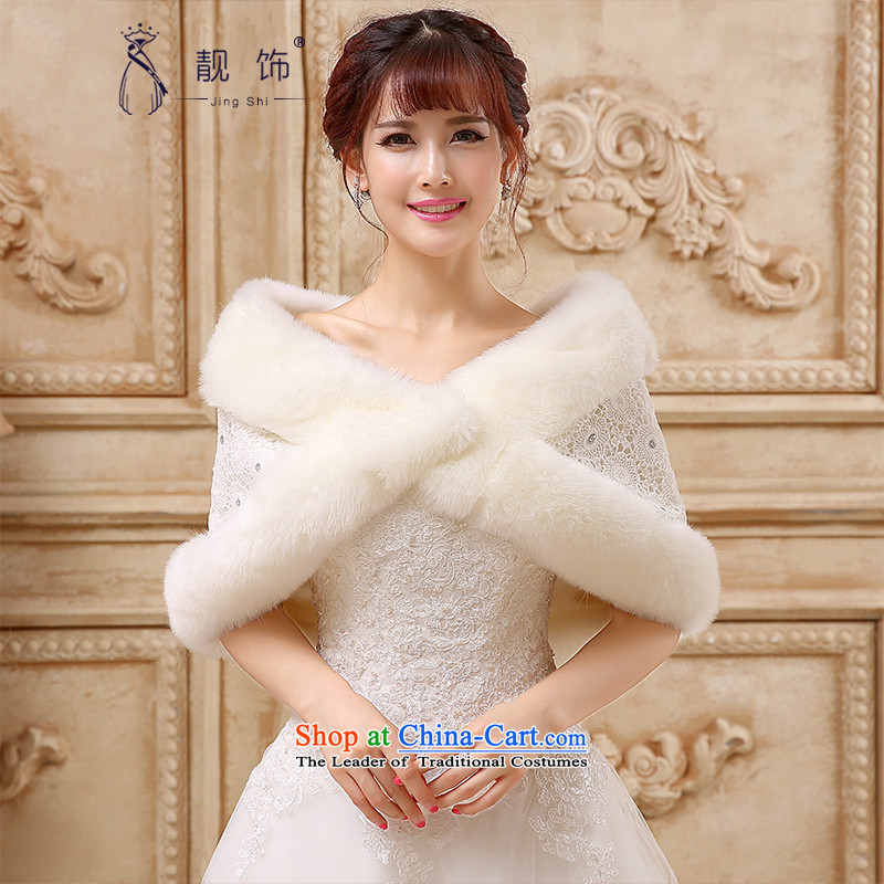 The talks with wedding shawl 2015 new winter, intensify the thick warm shawl white hair shawl White Diamond 026