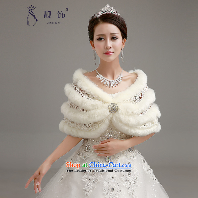 The new 2015 International Friendship wedding shawl marriages increase the thick white lace gross shawl white cape 058