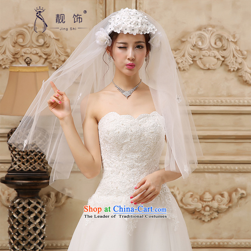 The new 2015 International Friendship hat flowers double hairpiece yarn marriage wedding accessories accessories White 030