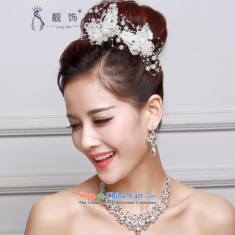 The new 2015 International Friendship bride red Head Ornaments Korean brides Head Ornaments twine bow knot of the Clip Red ornaments white single price
