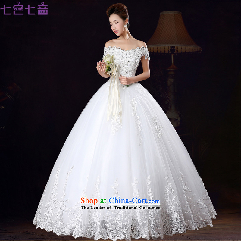 7 Color 7 tone Korean new stylish align 2015 to video in thin cuff bride slotted shoulder wedding dresses�H067�white tailored does not allow