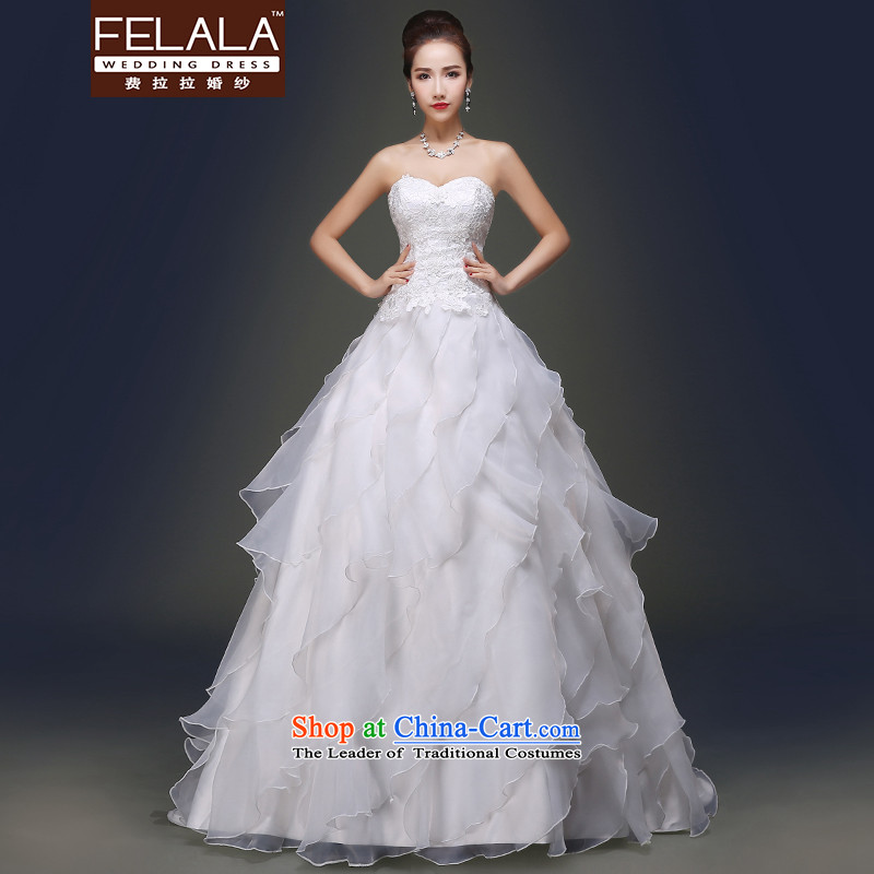 Ferrara in spring and summer 2015 new stylish anointed chest Sin-ling manually billowy flounces wedding dresses XL_2 gauge 2