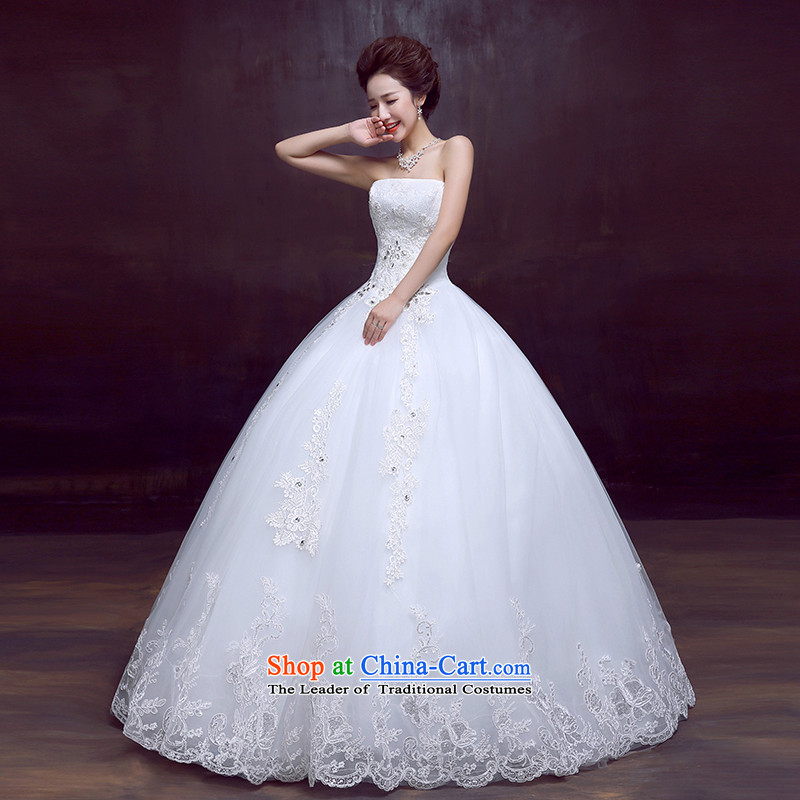 The dumping of the wedding dress wedding dresses new 2015 Korean sexy wiping the chest to wedding sweet Princess Bride wedding white L