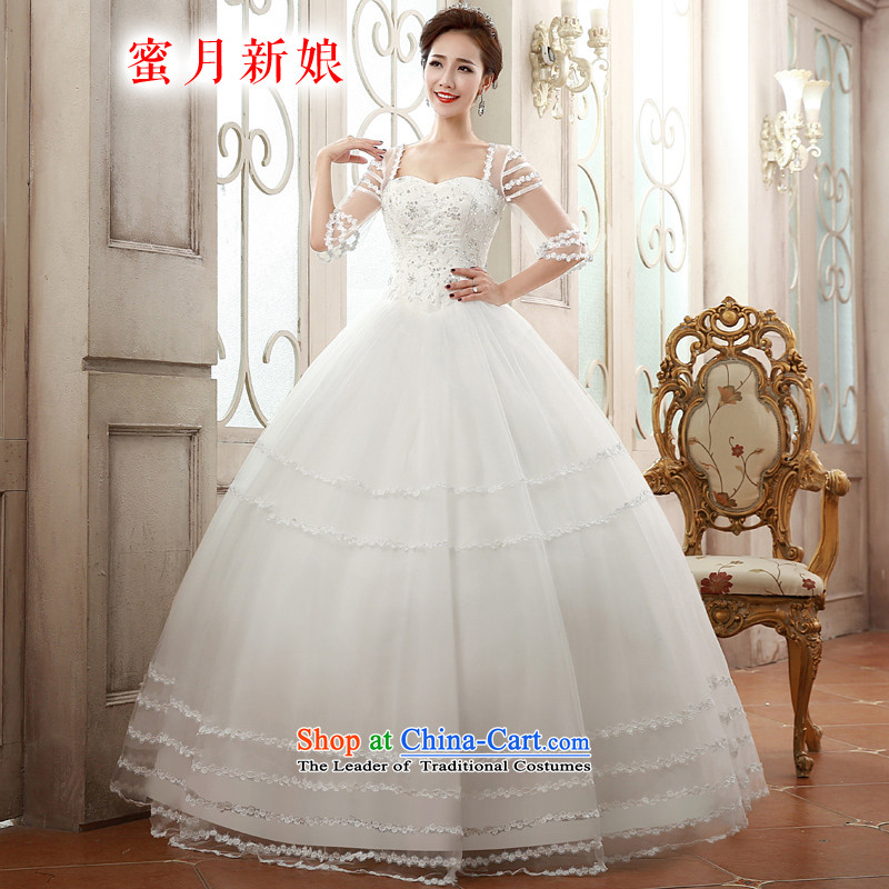 �The spring of 2015, the bride honeymoon new products wedding dresses romantic wedding princess shoulders bon bon skirt wedding White�XL
