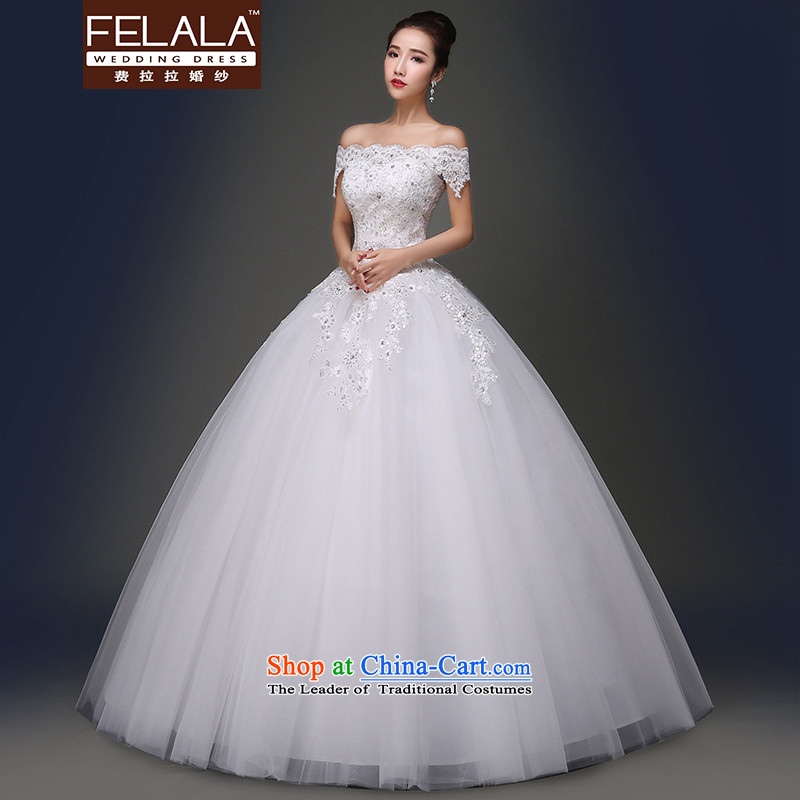 Ferrara�in spring and summer 2015 new word elegant lace on-chip shoulder to align bon bon skirt wedding�S(1 gauge 9