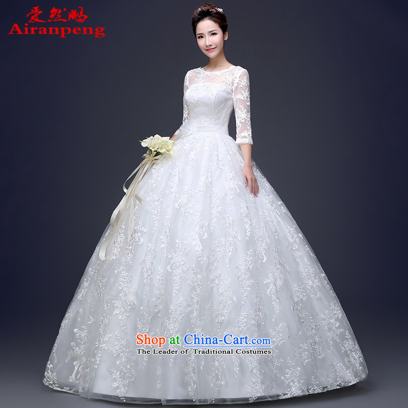 Love So Peng wedding dresses 2015 new Korean brides shoulders to align the word wedding shoulder large long-sleeved white women married to Sau San?L package returning