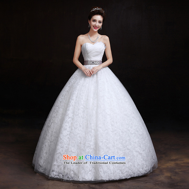 The dumping of the wedding dress wedding dresses new 2015 Summer Korean anointed chest to Top Loin of video to align the thin pregnant women wedding winter white聽S