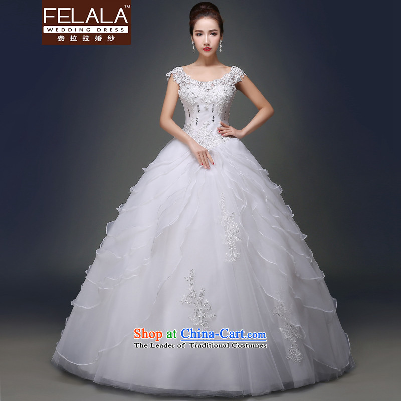 Ferrara聽2015 new spring and summer word elegant shoulder drill to align on cakes petticoats wedding聽S_1 gauge 9