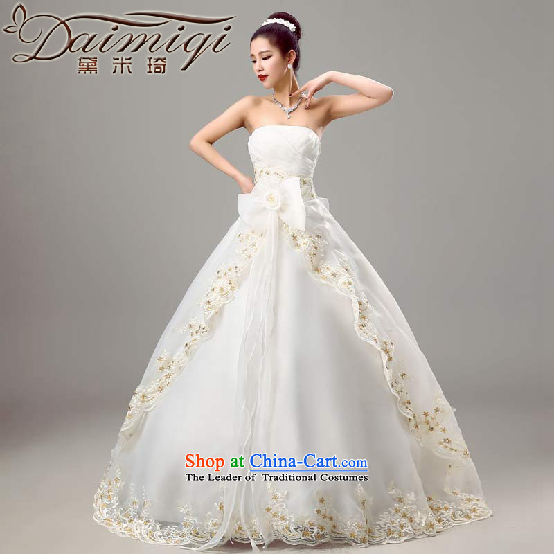 Doi m qi wedding dresses 2015 new anointed chest wedding Chun Sau San video thin wedding Korean minimalist wedding winter align bride in white�L