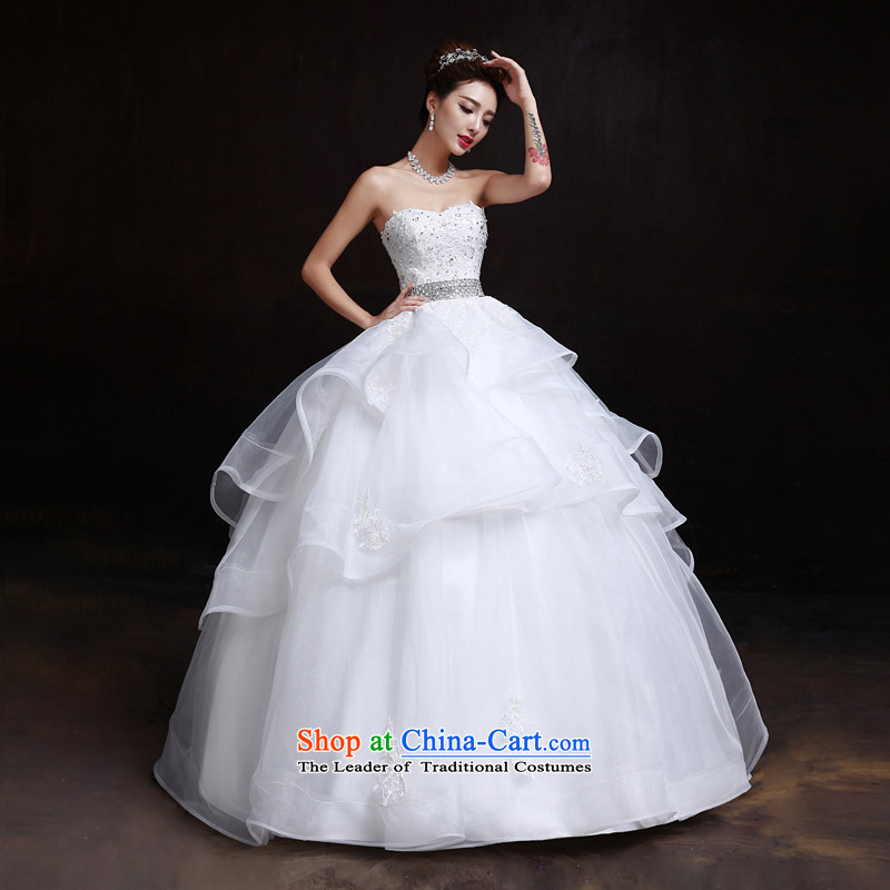 The dumping of the wedding dress wedding dresses in the summer and winter 2015 new Korean anointed chest to align Top Loin of graphics to pregnant women thin white wedding聽XL