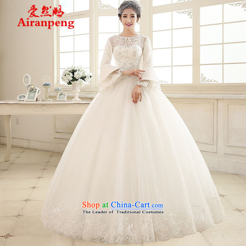 2015 Spring New wedding dresses retro lace long-sleeved alignment with stylish 2182 to bind to the size of the customer to be refunded